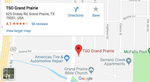 TSO Grand Prairie Map